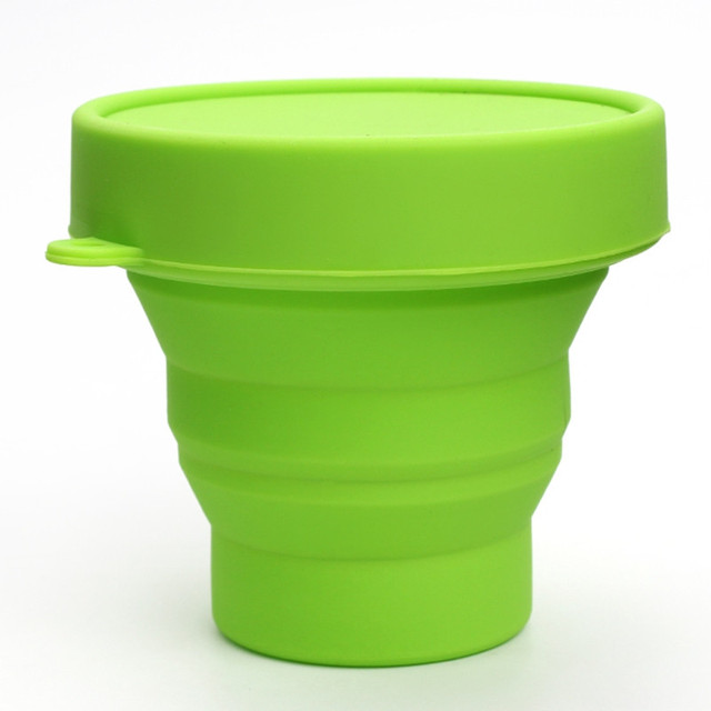 2 pieces Vogue Outdoor Travel Silicone Retractable Folding Cup Telescopic Collapsible Water Cup