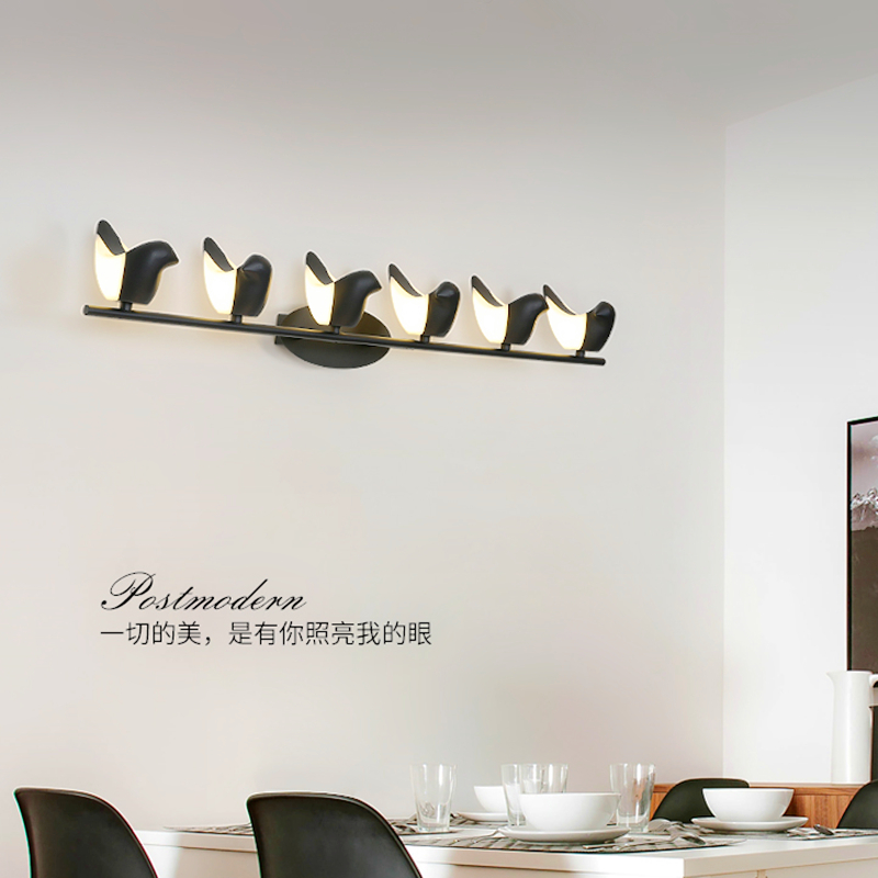 Modern wall sconces loft fixtures staircase illumination living room bird lights aisle lighting bedroom bedside LED wall lamps