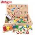 Simingyou montessori bloques juguetes de madera caja de aprendizaje digital calculatio regalo de los niños juguetes educativos para niño y niña
