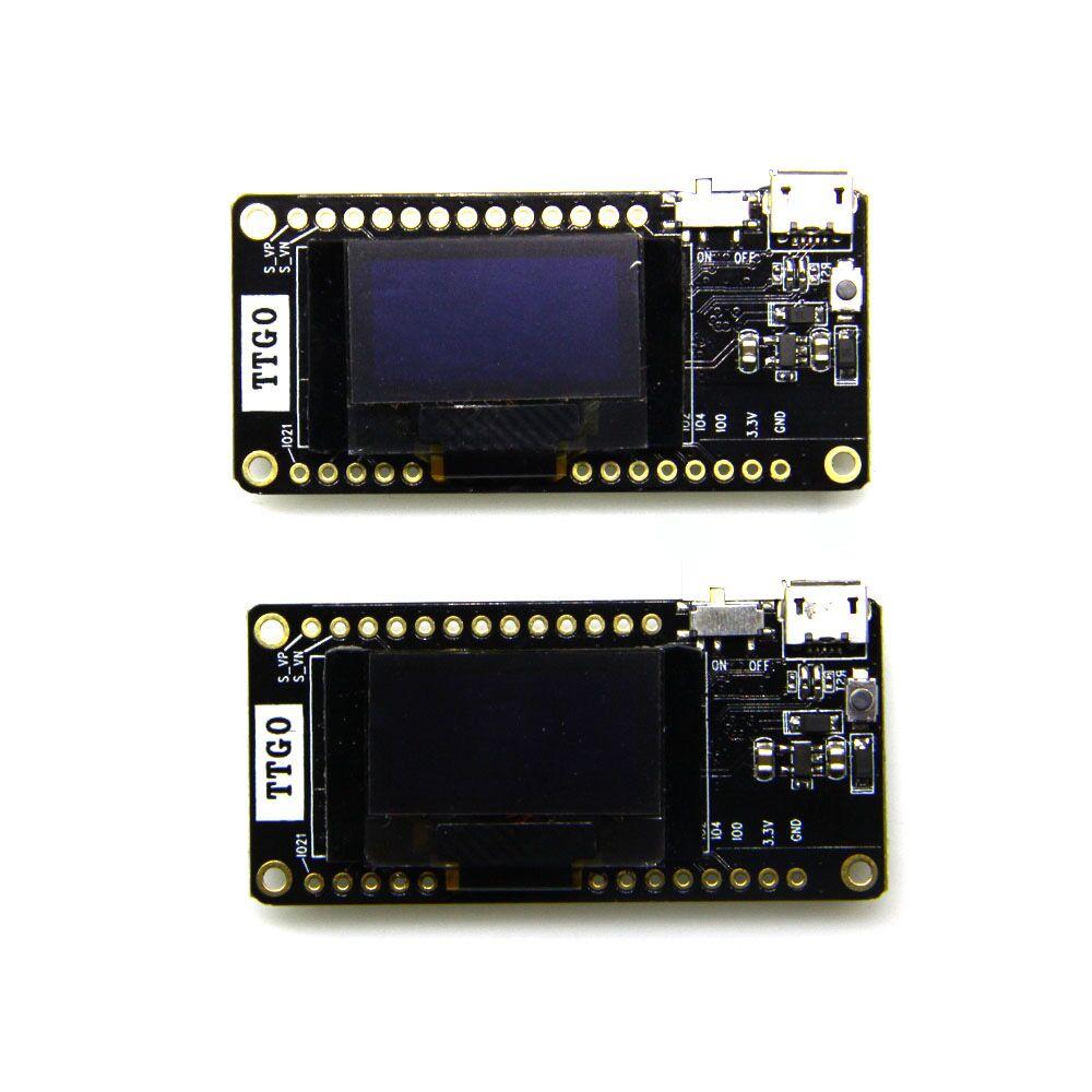 2 pièces TTGO LORA32 V2.0 433/868/915Mhz ESP32 LoRa OLED 0.96 pouces carte SD bleu affichage ESP 32 WIFI Bluetooth Module-in Pièces de rechange et accessoires from Electronique    2