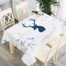 Waterproof and anti-scalding disposable tablecloth, fabric rectangular coffee table cabinet cloth