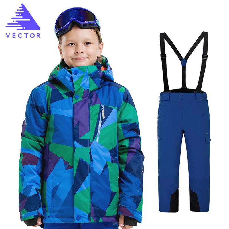 Kids Clothes Winter Ski Suit Waterproof Kids Ski Jacket Ski Pants High Quality -20 Degree Winter Warm Ski Jacket for Boys Girls children kids boys winter windproof padded jacket hooded jacket ski jacket high quality size 116 140