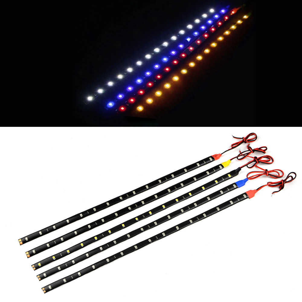 1Pcs 100% Waterproof High Power 60cm / 30LEDs 12V 3528 SMD Flexible LED Strip light For Bike Auto DRL Decoration lamp Tape