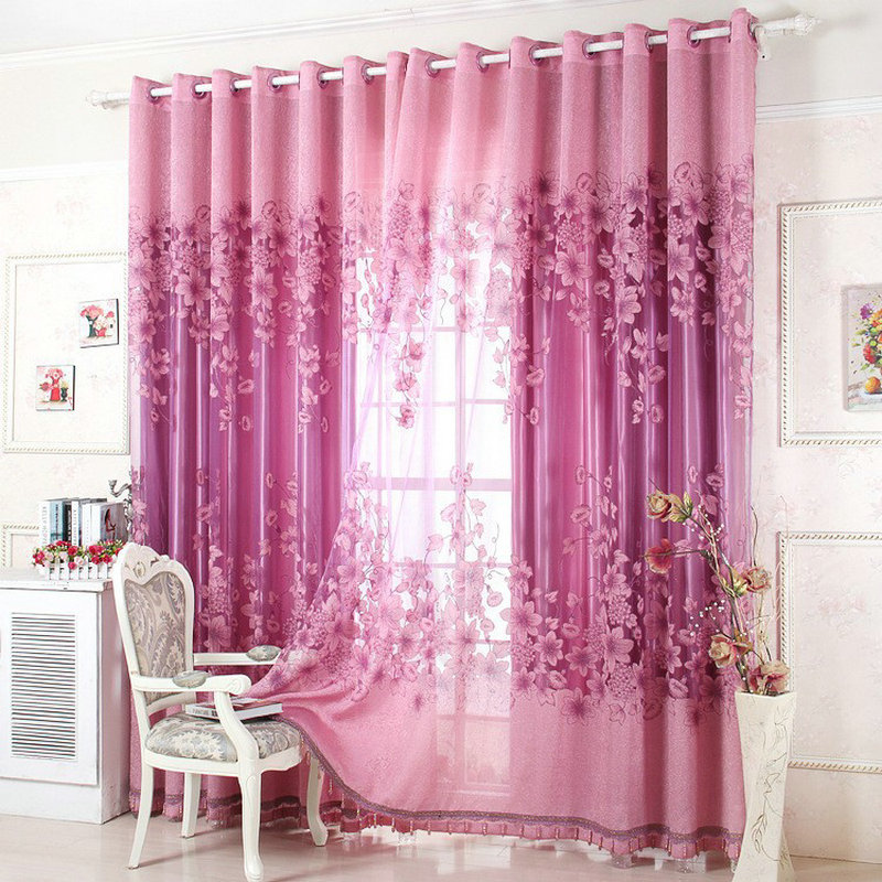 On Sale Curtains Luxury Beaded For Living Room Tulle Blackout Curtain Window Treatment Drape In Golden Pink Freeshipping From Home Garden