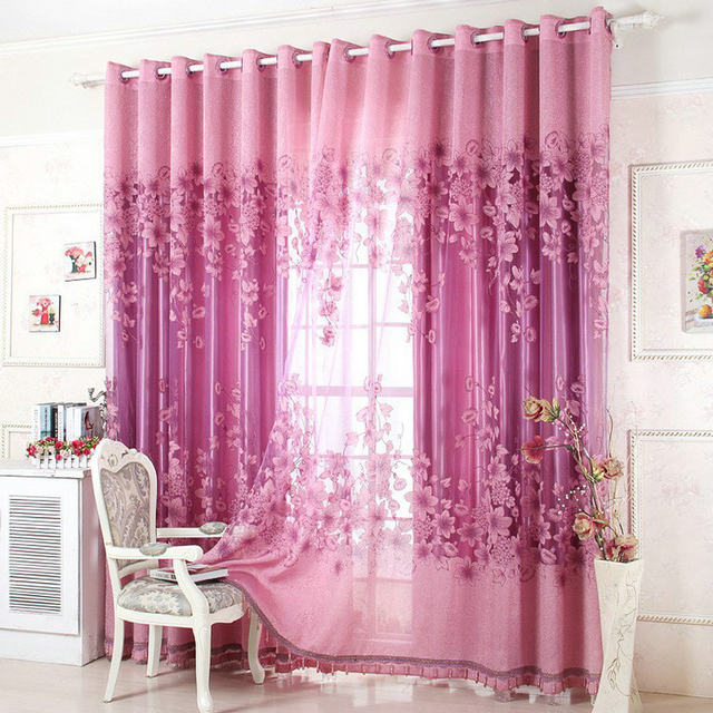 Online Shop On sale ! Curtains Luxury Beaded For Living Room Tulle + ...
