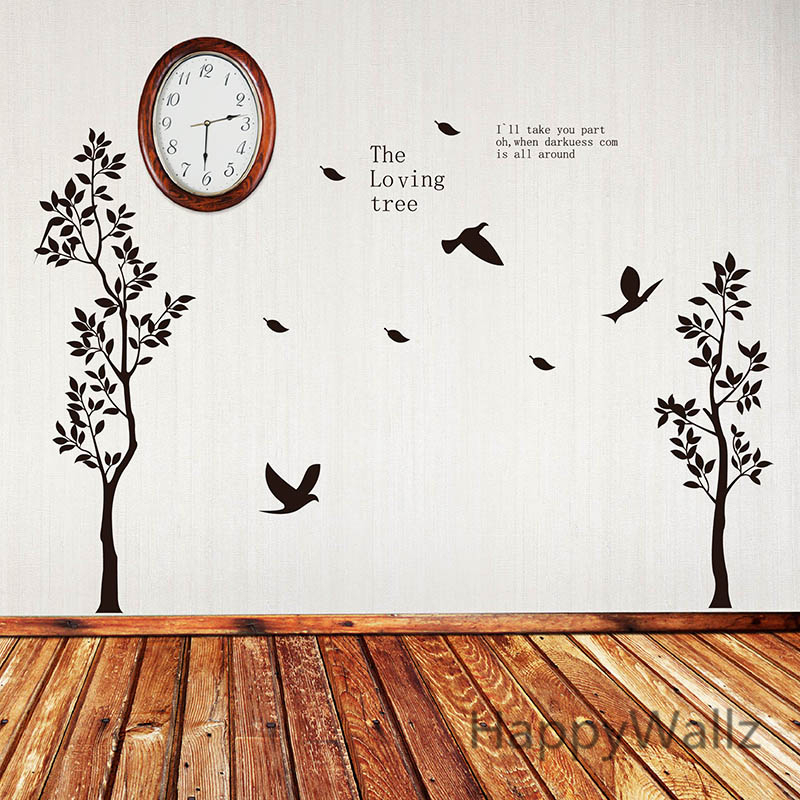 Tree Wall Sticker Loving Tree Wall Decal Diy Easy Wall