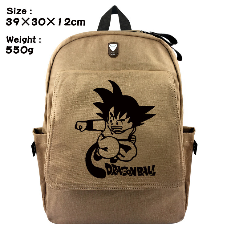 2018 Direct Selling Real No School Bags For Backpack Dragon Ball Wukong Students Bag Canvas Backpack Animation Package Brain