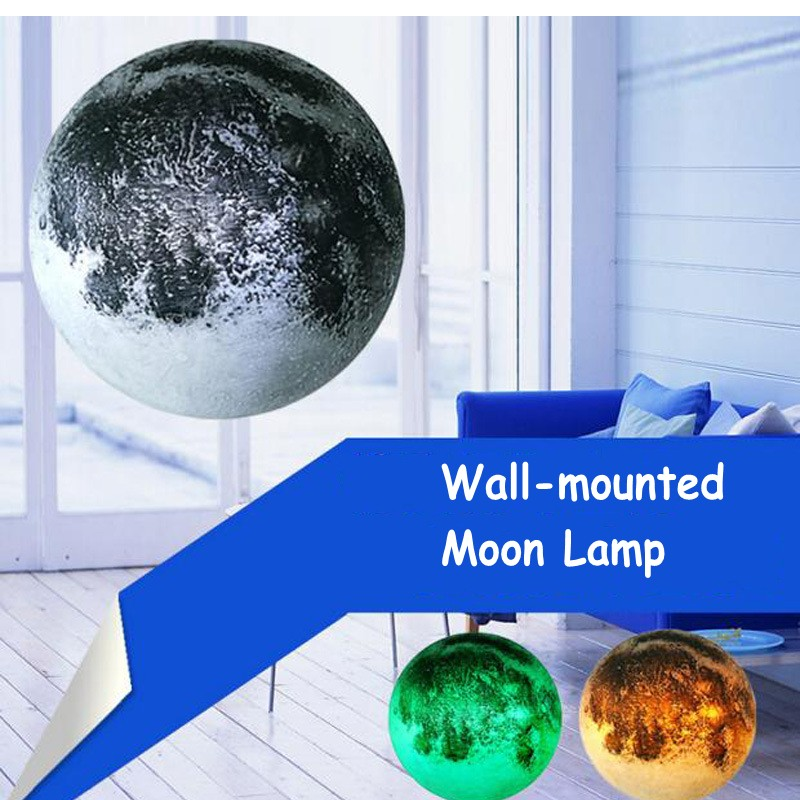 FENGLAIYI New White Yellow Green Three Color Remote Control Wall-mounted LED Night Light Children's Moon Lamp Decorative Lights keyshare dual bulb night vision led light kit for remote control drones