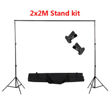 Professional 2x2M Photo Studio Photography Background Support Backdrop Stand Kit+Portable Carry Bag+Clips 6x10ft support photo background stand 2x3m backdrop stand for photo studio accessory support eqipment fotografia