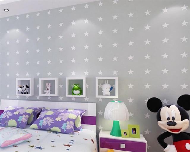 Babykamer Behang Sterren : Beibehang moderne cartoon kinderkamer behang slaapkamer roze blauw