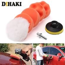 Kit para polimento automotivo, 6 peças, 3 polegadas, kit de almofada de polimento de carro, com adaptador de broca m10 acessórios de ferramentas elétricas,