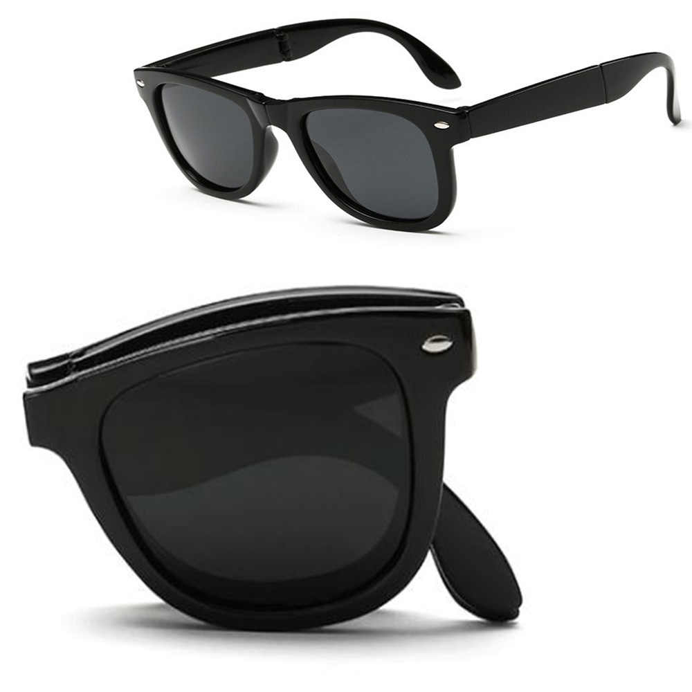 Mens Foldable Polarized Sunglasses Drivng Sport Outdoor Portable Folding Eyewear
