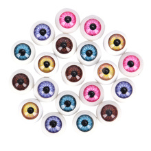 Half-Round Doll Toy-Parts Eyeballs Crafts Acrylic-Eyes Plastic 12mm for DIY Mix-Color