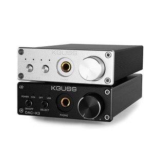 Image 2 - KGUSS DAC K3 MINI HiFi 2.0 Digital Audio Decoder DAC Ingresso USB/Coassiale/Ottica di Uscita RCA/Amplificatore Per Cuffie 24Bit/96 khz DC12V