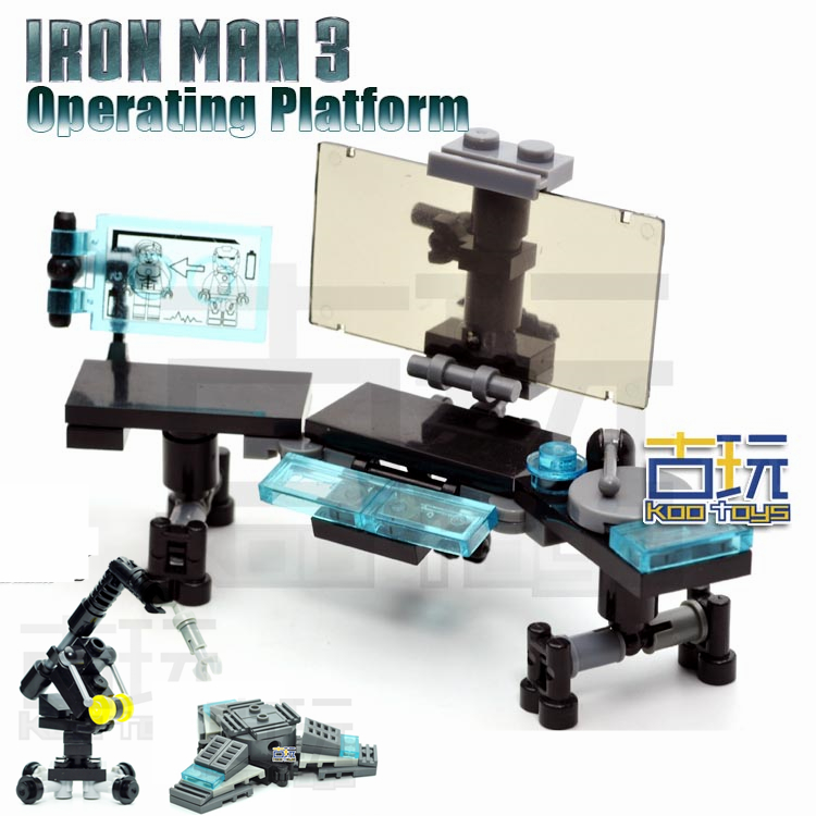 MOC The IRON MAN WORK STATION Hall of Armor War Machine SUPER HEROES Avengers Building Blocks Kids Toys -NOT INCLUDE MINIFIG rollercoasters the war of the worlds