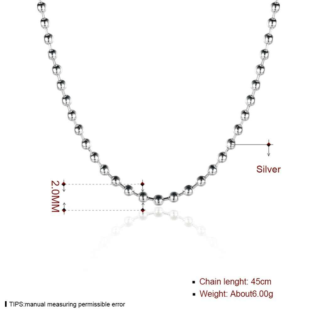 2 Mm Parel Link Chain, thomas 925 Sterling Zilver Basic Kettingen Ketting Glam Sieraden Fit Hanger 2017 Ts Soul Gift Voor Mannen & Vrouwen