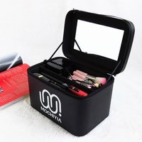 Portable Three Dimensional Washing Cosmetic Storage Box Home Outdoor Travel Waterproof Large Capacity With Mirror Storage Boxes