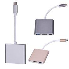 2017 Новый Тип C 3.1 до USB3.0 + HDMI + Типа С Девушкой Multiport Зарядное Устройство Кабель-Адаптер для Apple Macbook Зарядное Устройство адаптер