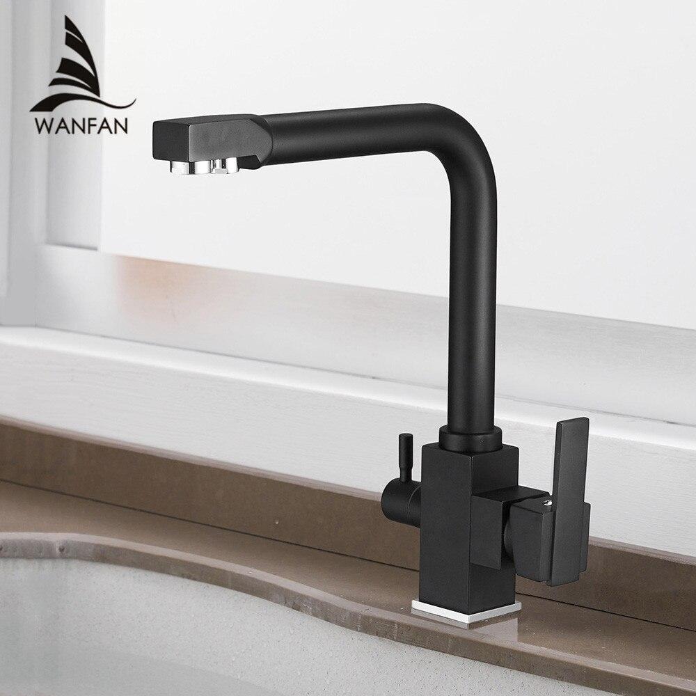 Кухня смесители Палуба Гора смесителя 360 градусов вращения с очистки воды Особенности одно отверстие крана для Кухня WF-9050