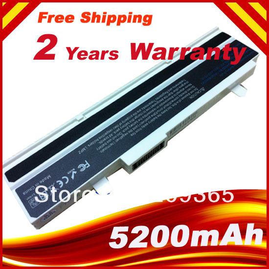 5200mah White Laptop Battery For ASUS Eee PC 1215B 1215P 1215T 1015PD 1015PED 1015PEM