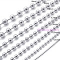 "16""-40"" 1.5/2/2.4/3.2/4/5/6/8/10mm Fashion Hot Silver Ball Beads Chain 316L Stainless Steel Women Mens Chain Necklace"