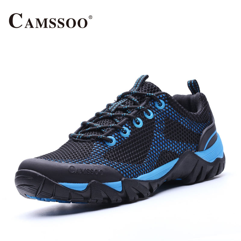 Camssoo Walking Sport Shoes Men Light Weight Mesh Breathable Platform Sneakers Light Male Shoes Size Eu 39-44 AA40365 купить