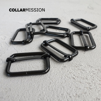 100pcs/lot Adjuster buckle for 30mm straps belts Bags dog collars zinc Alloy diy accessory sewing black  metal buttons LXK30H