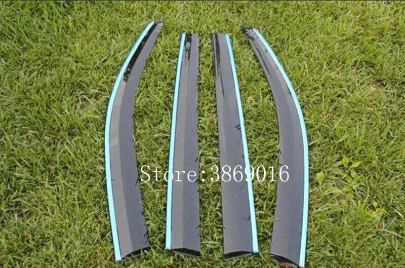 Fit pour Nissan Qashqai J10 acrylique fenêtre visière Vent nuances soleil pluie déflecteur garde auvents 2007 2008 2009 2010 2011 2012 2013 - 3