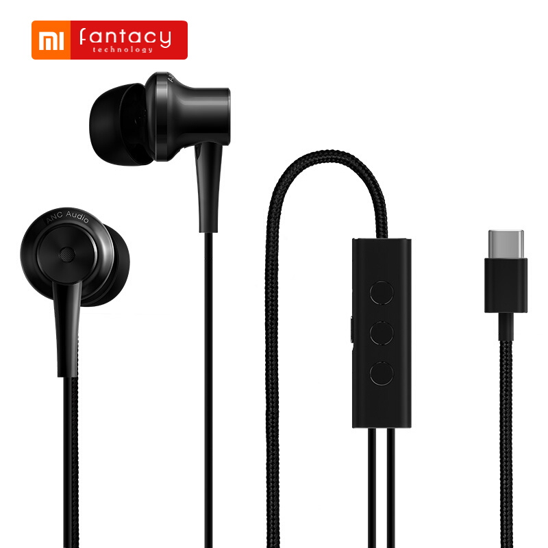 Original Xiaomi ANC Hybrid Earphones Type-C Noise Reduction In-Ear Earphone Wired Control With MIC For Xiaomi Android Smartphone