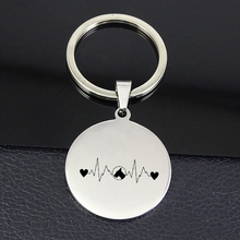 Unique Heartbeat Keychain High Polished Stainless Steel Heart Keychains Jewelry for Men and Women Drop Shipping YP7374 татуировка переводная heartbeat