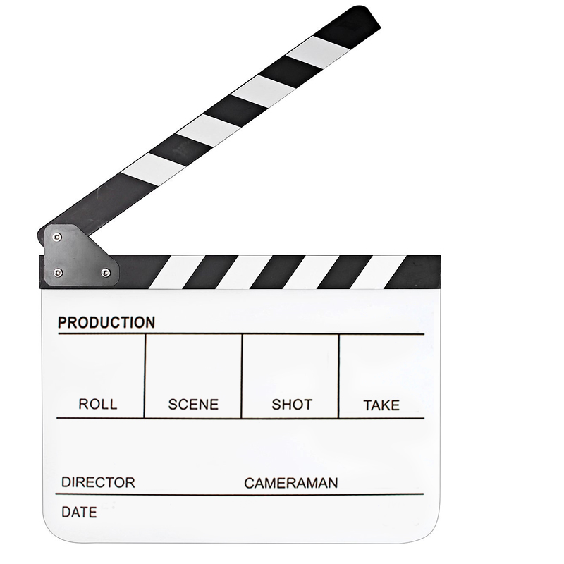 Tips Beli 11 7 X 9 8 Inch Acrylic Director Film Movie Cut Clapboard Clapper Board Slate With Black White Magnetic Strip White Board Intl Yang Bagus