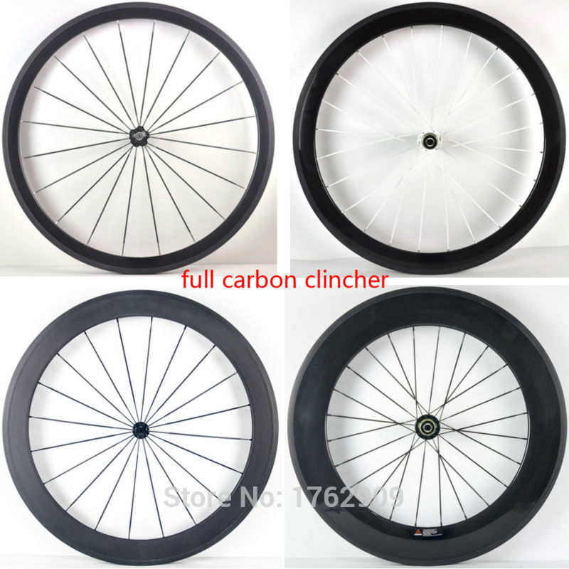 1pair New 700C 38/50/60/88mm clincher rims road bike 3K UD 12K full carbon fibre bicycle wheelsets 20.5/23/25mm width Free ship цена