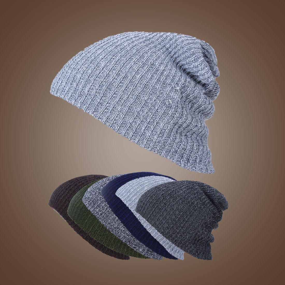 New Knit Men's Baggy Beanie Oversize Winter Warm Hats Slouchy Chic Crochet Knitted Cap For Women Girl's Hat Thick Female Cap winter casual cotton knit hats for women men baggy beanie hat crochet slouchy oversized ski cap warm skullies toucas gorros 448e