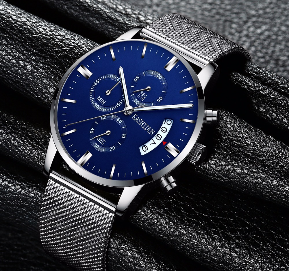 KASHIDUN Men s Watches Sporty Casual Quartz Analog Watches Military Multi functions 24 Hours Time Simple