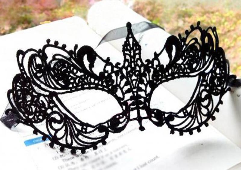 Maskuojanti Helovyno kaukė Seksualių juodų nėrinių kaukė - Šventės ir vakarėliai - Nuotrauka 3
