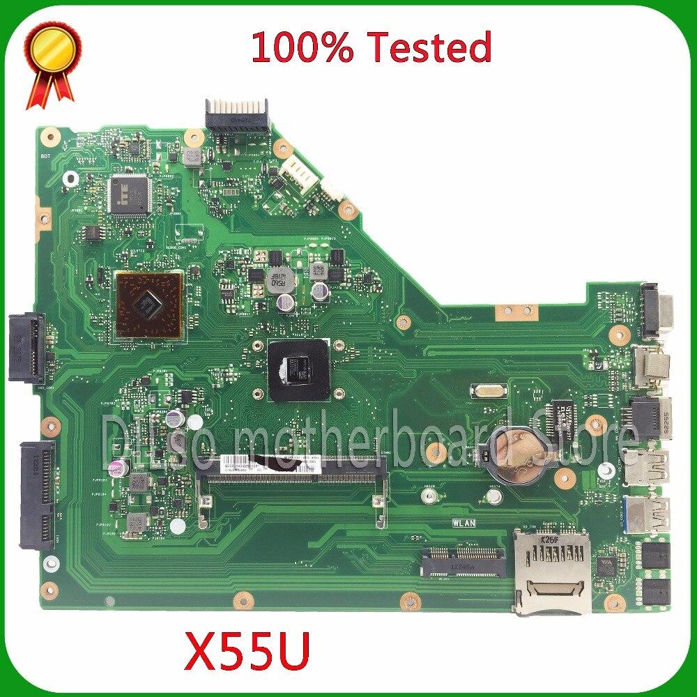 KEFU X55U motherboard For ASUS X55U X55A Integrated Laptop motherboard X55U X55A oeiginal mainboard REV1.3/1.4/1.6 100% tested samxinno original for asus x55a laptop motherboard rev 2 1 2 2 100% tested perfect integrated mainboard