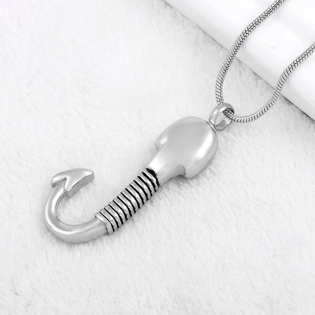 Skeleton Hook Urn Necklace
