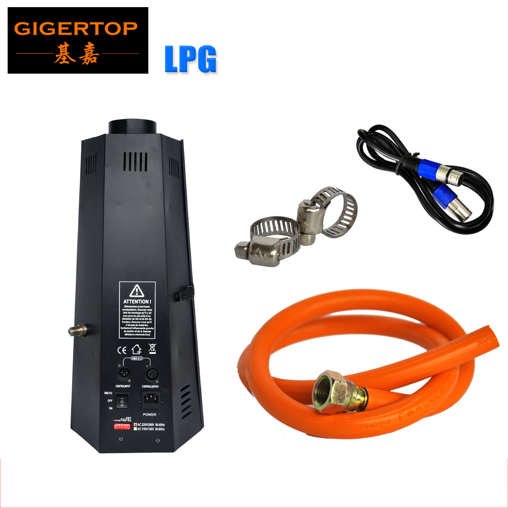TIPTOP New Arrival 1XLOT 200W LPG DMX Fire Machine DMX 512 Control 2 Channels Liquefied Petroleum Gas / Propane Gas TP-T152B
