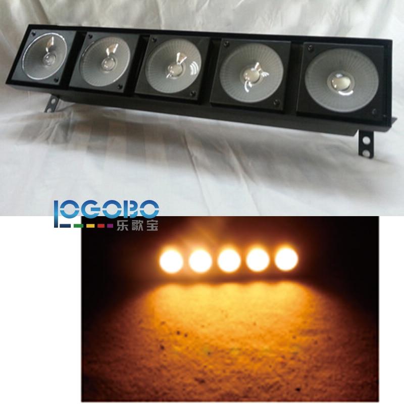 Pack of 4 Free Shipping DMX Matrix 5x30W COB LED Light Stage Warm White Blinder DJ Club Bar Discount Lighting Led Light Fixtures