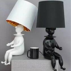 Lampa stołowa GETOP Clown nowoczesna lampa Led abażur lampa na biurko salon sypialnia studium oświetlenie domu dziecko żyrandol stołowy