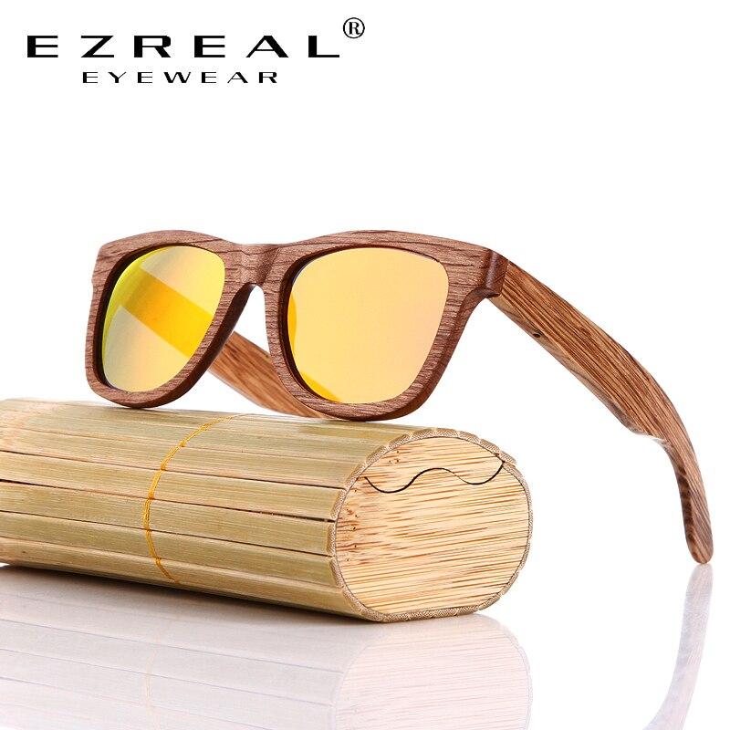 EZREAL Ahşap Güneş Gözlüğü Bambu marka güneş gözlükleri - Elbise aksesuarları - Fotoğraf 3