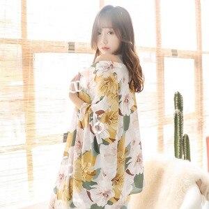 Image 4 - 春秋の女性パジャマ服 4 ピースセット女性のパジャマは nightsuit パジャマセットレジャー花 pijamas ホームウェア