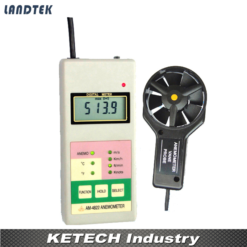 Digital Anemometer Wind Speed Meter AM4822