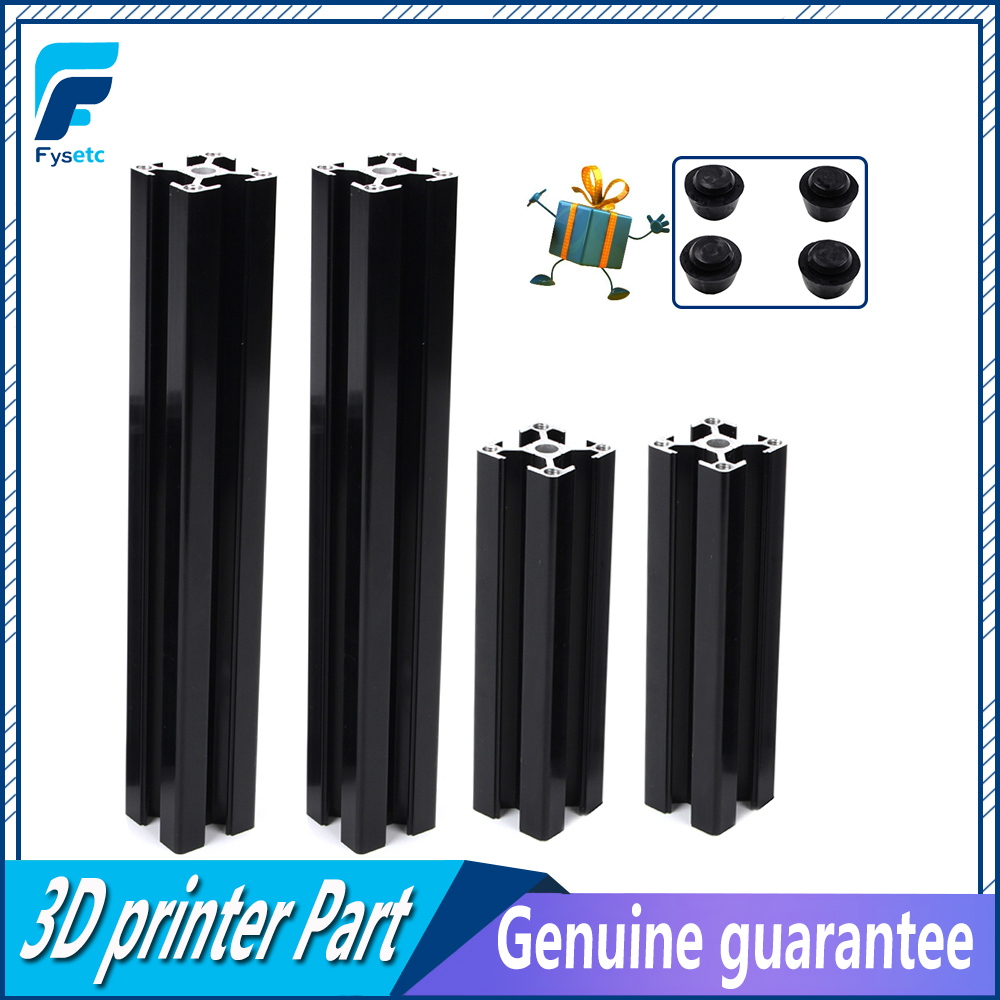 1Set Black Aluminum Profile Prusa I3 MK3 Aluminum Extrusion Profile 3030 30*30 for Haribo Edition Prusa I3 MK3 3D Printer|3D Printer Parts & Accessories| |  - title=