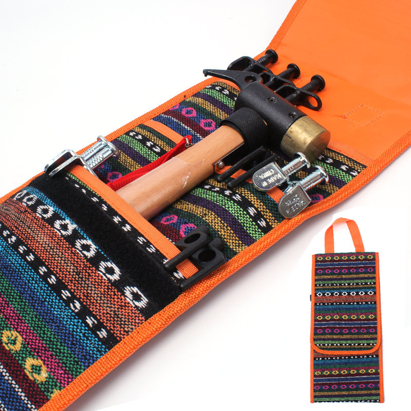 Outdoor Tools Hanging bags exported to South Korea tent nail hammer accessories storage package ethnic style outdoor tool bag