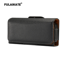 FULAIKATE Litchi Waist Bag for Gionee W909 Old Men Mobile Phone Case Portable Universal Pocket Climbing Pouch 2.2 cm