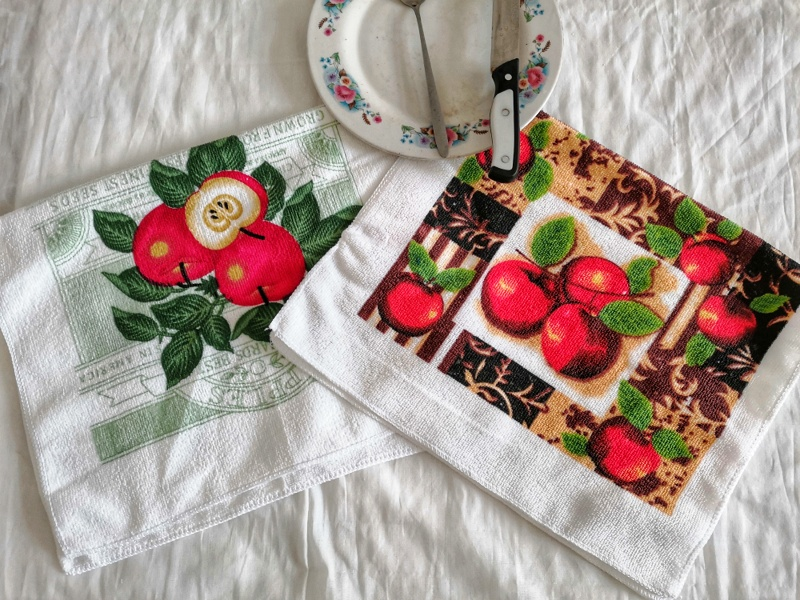 Hospitable Hot Sale Kitchen Towel Dish Cleaning Cloth Microfiber Absorbent Bright Colorful Printed Tea Towels Cooking Tools Rapid Heat Dissipation