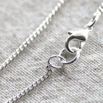 "Free shipping!!!! 100 pcs/lot Silver plated 2mm Curb Chain Blank Necklace Chain with lobster clasp 32""L"