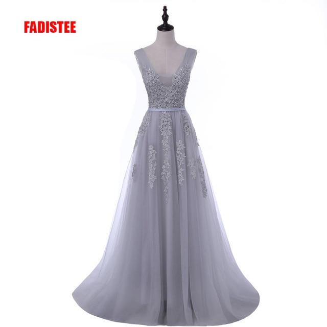 FADISTEE Elegant Long Bridesmaid Dresses Appliques Lace beading lace-up  style Wedding Party Dress Under 4c474cc32b4f