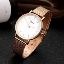 b0b12ce0564 LVPAI Marca Simples As Mulheres Se Vestem de Relógios Senhoras Relógios de  Quartzo Ouro Prata Banda